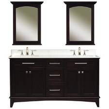 "Manhattan 60"" Double Standard Bathroom Vanity Set"