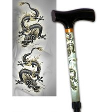 Scrolling Dragon Travel Cane