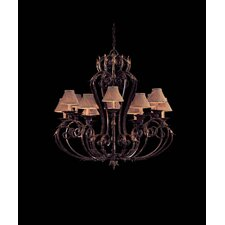 Zaragoza Twelve Light Chandelier in Golden Bronze with Optional Shades