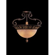 Zaragoza 3 Light Semi Flush Mount