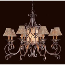Zaragoza Twenty Light Chandelier in Golden Bronze with Optional Shades