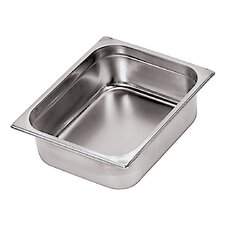 Stainless Steel Hotel Pan - 1/2 in Silver