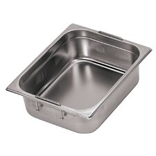 Hotel Pan with Retractable Handles - 1/3 in Silver