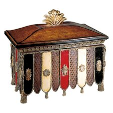 Decorative Box in Belcaro Walnut with Color Accents