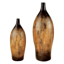 Mexican Mosaic Vases (Set of 2)
