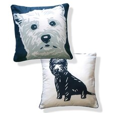 Doggie Style Reversible West Highland Terrier Pillow