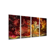 "Passionate Light Ii by Megan Duncanson, Abstract Wall Art - 23.5"" x 48"""