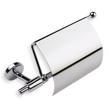 Pegaso Wall Mounted Toilet Roll Holder with Cover in Chrome