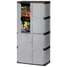 "72"" Mica & Charcoal Full Double Door Cabinet FG708300MICHR"