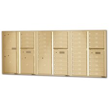 4C Horizontal USPS Wall Mailbox Unit