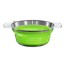 "8"" Foldable Strainer in Green"