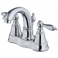 Fairmont Centerset Bathroom Sink Faucet with Double Lever Handles