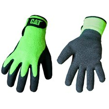 Rainwear Boss Latex Coated Knit Gloves in Fluorescent Green