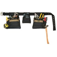4 Piece 11 Pocket Carpenter's Combo Tool Belt