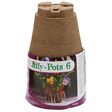 "4"" Round Pots (Set of 6)"