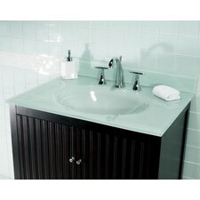 "37"" Glass Vanity Top with Sink"