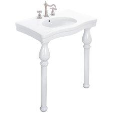 English Turn Console Bathroom Sink