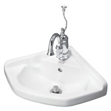 English Turn Wall Mount Corner Bathroom Sink