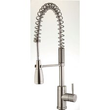 Single Handle Single Hole Pre-Rinse Bar Faucet with Metal Lever Handle