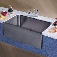 "Magnum 30"" x 18.5"" Large Single Bowl Kitchen Sink with Apron Undermount"