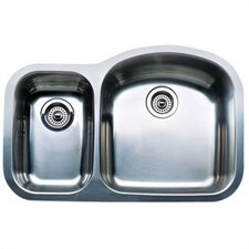 "Wave 31.5"" x 20.88"" x 10"" Plus Reverse Bowl Undermount Kitchen Sink"