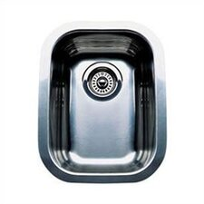 "Wave 17.75"" x 12.44"" x 6.75"" Plus Single Bowl Undermount Kitchen Sink"
