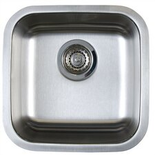 "Stellar 15"" x 15"" Single Bowl Undermount Bar Sink"