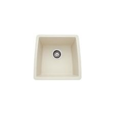 "Performa 17.5"" x 17"" Silgranit II Single Bowl Undermount Bar Sink"