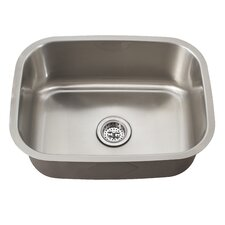 "21.44"" x 15.75"" Single Bowl Kitchen Sink"