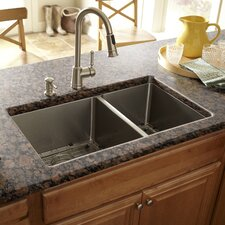 "30"" x 17"" Double Bowl Kitchen Sink"