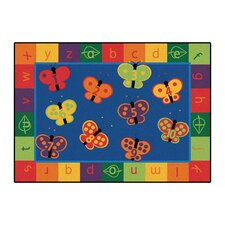 Literacy 123 ABC Butterfly Fun Kids Rug