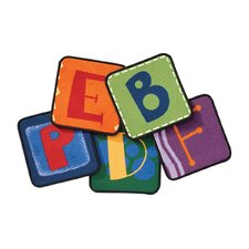 Toddler Alphabet Blocks Primary Rug Squares (Set of 26)