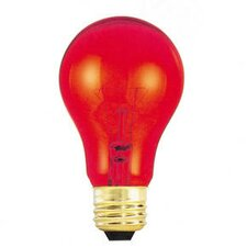 25W Transparent A19 Bulb in Red