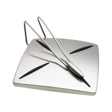 Satin Finish Napkin Holder with Pendulum Arm
