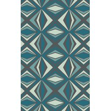 Voyages Charcoal Gray/Teal  Rug