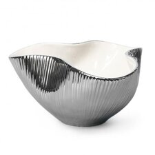 Large Metallic Pinch Bowl