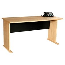 "Modular Real Oak Wood Veneer 48"" W Panel Office Desk"