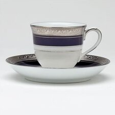Crestwood Cobalt Platinum 3 oz. After Dinner Cup and Saucer