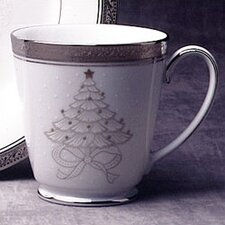 Crestwood Platinum 12 oz. Holiday Accent Mug (Set of 4)