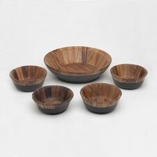 Kona Wood 5 Piece Salad Set