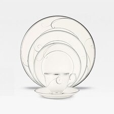 Platinum Wave Dinnerware Set