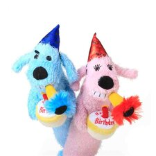 Loofa Dog Birthday Toy