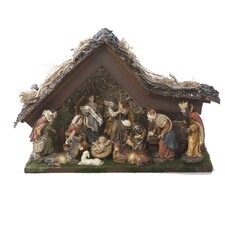 Musical LED Stable and Figures Nativity Set