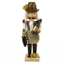 Wooden Wine Grower Nutcracker