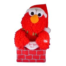 Battery-Operated Singing Elmo in Chimney