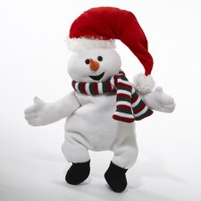 Rolls Back and Forth with Laughing Sound Animated Snowman