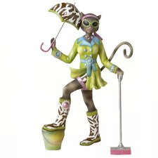 Alley Cats Resin Go Go Mopping Table Piece Figurine