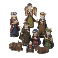 9 Piece Infant Resin Nativity Set