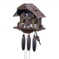 "13"" Chalet 8-Day Movement Cuckoo Clock with Wood Chopper"