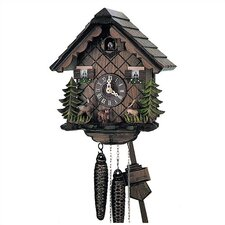 "10"" Cuckoo Clock with Hand Carved Bambi and Hare"